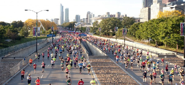altimetria maratona de chicago percurso