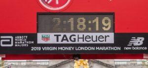 Tempo medio de uma maratona