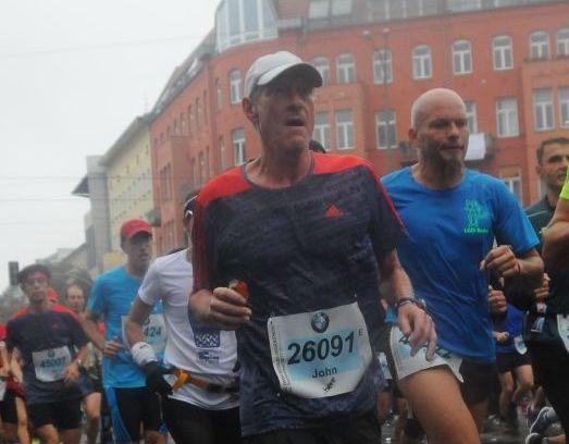 John Peter King na Maratona de Berlim