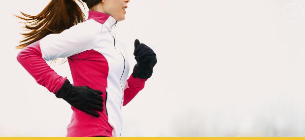 correr no frio