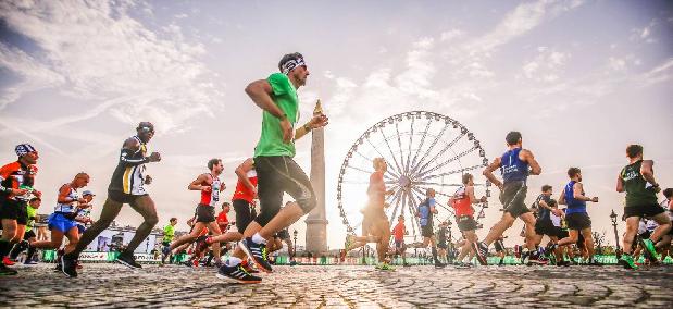 capa percurso maratona de paris